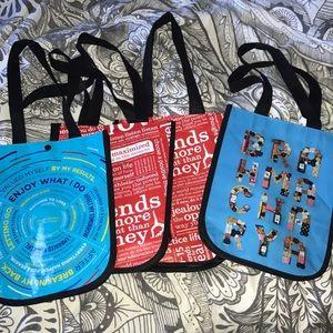 4 small Lululemon reusable bags